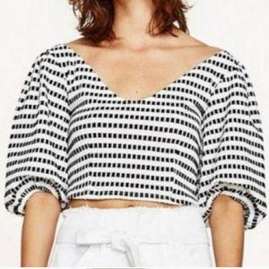 Zara puff shoulder top